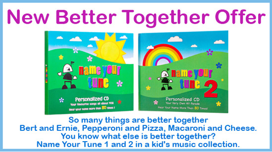 Name your tune personalized music for kids and other personalized better together offer negle Gallery